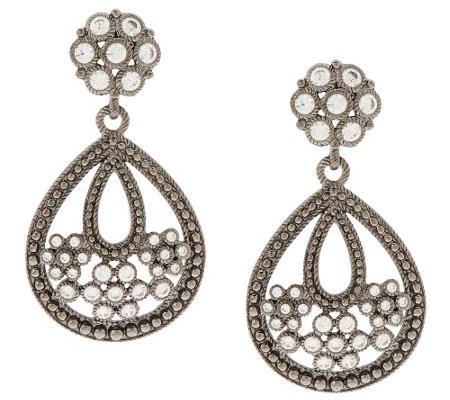 judith ripka sterling diamonique drop earrings j296488
