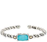JAI Sterling & 14K Turquoise Doublet Cuff Bracelet - J296888