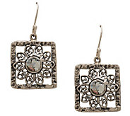 Or Paz Sterling Roman Glass Flower Dangle Earrings - J297688