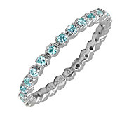 Simply Stacks Sterling Prong-Set Blue Topaz Stackable Ring - J298688