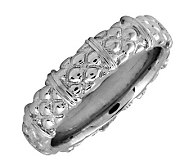 Simply Stacks Sterling Silver Textured 4.25mm Ring - J298988