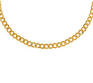 Milor 18 Polished Curb Link Necklace, 14K Gold11.90g - J308988