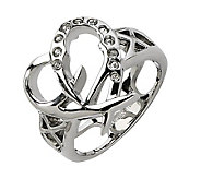Stainless Steel Open-Heart Ring - J310688