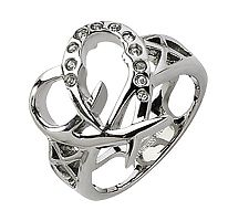 Stainless Steel Open-Heart Ring