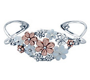 Carolyn Pollack Mixed Metal Blushing Joy Cuff B racelet - J313088