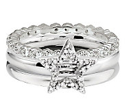 Simply Stacks Sterling Diamond Accent Star RingSet - J314588