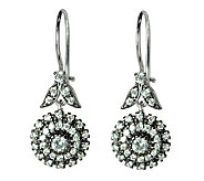 Diamonique 2.80 ct tw Sterling Floral Earrings - J315088