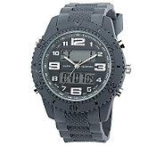 Mens USMC Regimen Gray Analog-Digital Chronograph Watch - J315388