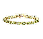 7 Faceted Oval Gemstone Tennis Bracelet, 14K Gold - J315988