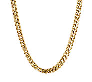 Gold Ion-Plated Stainless Steel Foxtail Chain Necklace, 22 - J316788