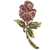 Joan Rivers Enchanted Pave Rose Pin - J317588