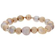 As Is Honora 10.5mm - 12.0mm Ming Cultured Pearl Bronze Bead Bracelet - J318788
