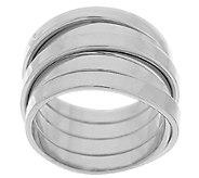 As Is VicenzaSilver Sterling Wrap Design Ring - J320088