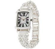 UltraFine Silver Polished Double Byzantine Strap Watch - J320288