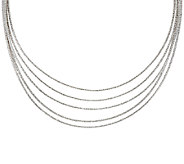 Vicenza Silver Sterling 18 Multi-strand Omega Necklace, 49.5g - J320888