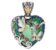 Barbara Bixby Sterling & 18K 1.20 ct tw Multi-Gemstone Heart Enhancer - J321088