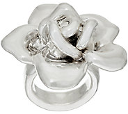 Sterling Silver Bold Rose Flower Ring by Or Paz - J321688