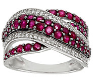 Precious Gemstone & Zircon Sterling Silver Ring, 1.25 cttw - J325088