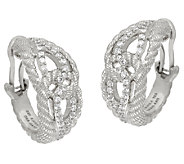 Judith Ripka Sterling Diamonique Wrap Earrings - J325188
