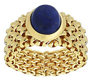 As Is Veronese 18K Clad Gemstone Flexible Band Ring - J326288