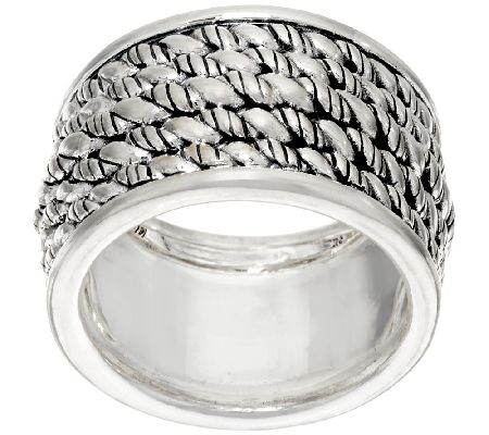 JAI Sterling Silver Hill Tribe Band Ring