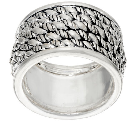 jai sterling silver hill tribe band ring qvc