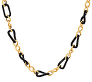 The Elizabeth Taylor Black and Gold Link 18 Necklace - J326788