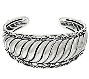 Carolyn Pollack Sterling Silver Signature Ribbed Cuff 38.0g - J327188