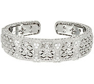Judith Ripka Sterling Heart Estate Cuff Bracelet - J327388