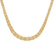 14K Gold 20 Polished Graduated Byzantine Necklace, 11.5g - J328288