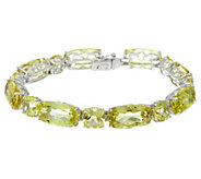 Colors of Quartz 7-1/4 Sterling Silver Tennis Bracelet 52.10 cttw - J329488