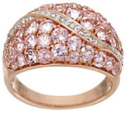 Pink Spinel & Diamond Accent Wide Band Ring 14K Gold 2.00 cttw - J330288