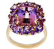 Ametrine & Multi-Cut Amethyst Bold Ring, 14K Gold 4.60 ct - J330988