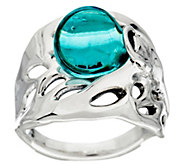 As Is Kalos by Hagit Sterling Silver Blue Glass Ring - J331188