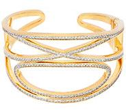 As Is G.I.L.I XO Crystal Open work Cuff Bracelet - J333988