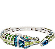 Judith Ripka Sterling Silver Diamonique & Gemstone Coco Alligator Cuff - J334788