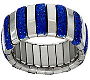 Stainless Steel Stretch Colored Glitter Ring - J348188