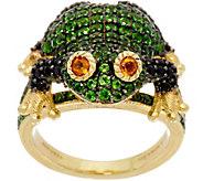 Judith Ripka 14K Clad Gemstone Frieda Frog Ring, 2.60 cttw - J349788