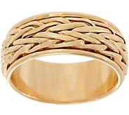 14K Gold Wheat Byzantine Spinner Ring - J350888