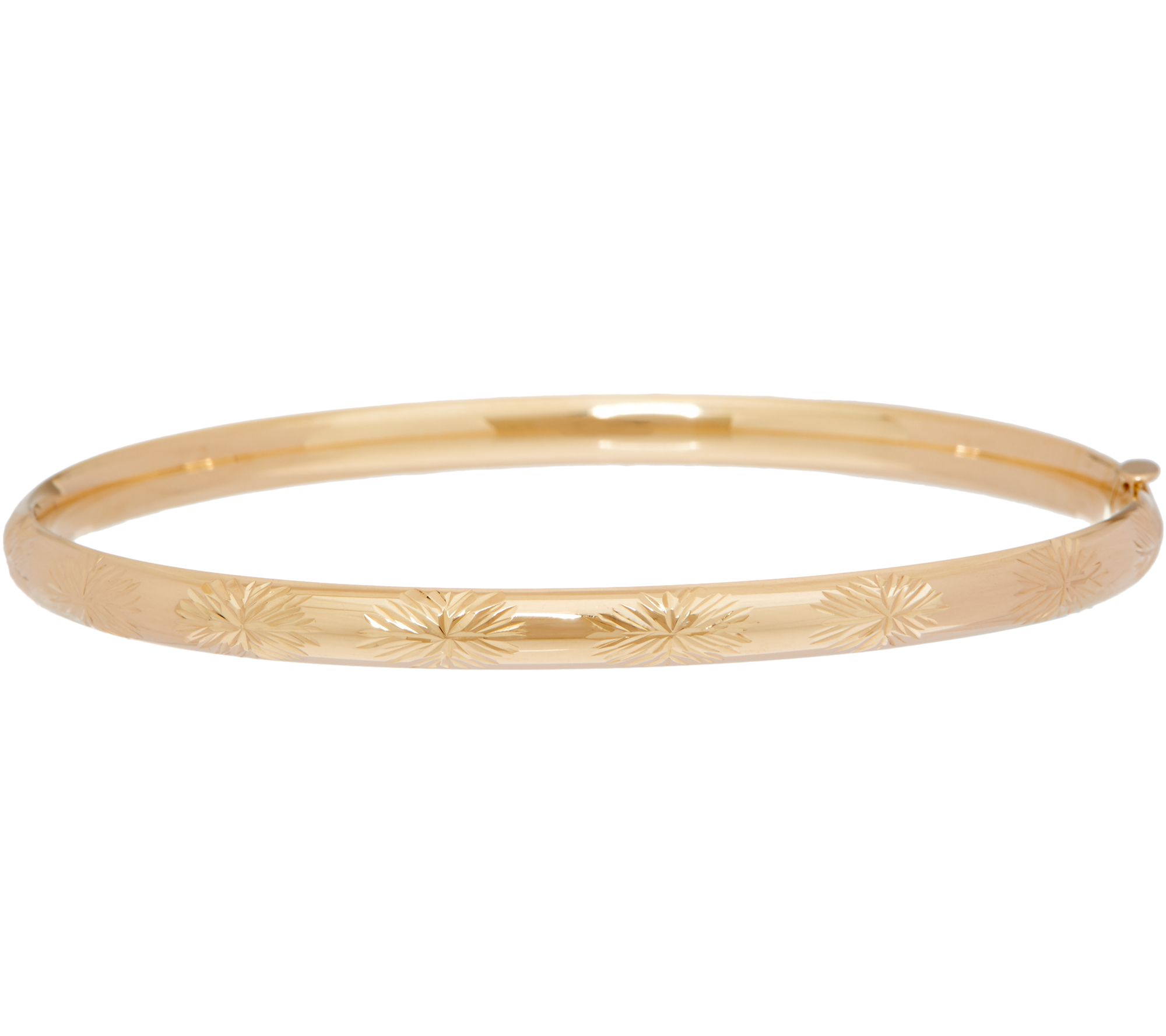 thin pin floral in classic gold yellow carved bangle bracelets karat bangles