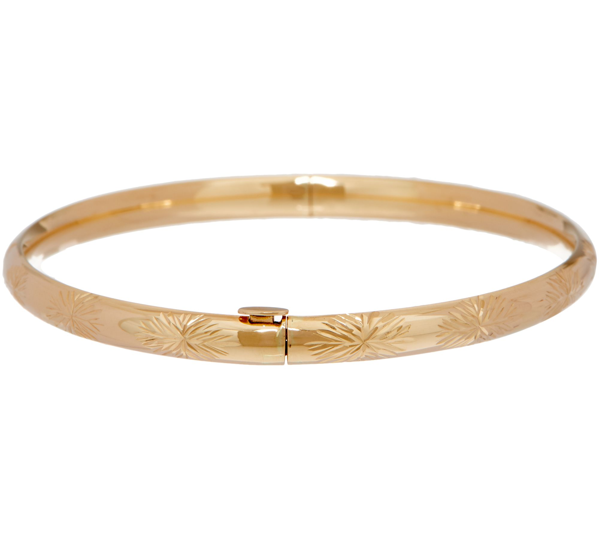 large qvc bracelet product com solid bracelets oval page bangles gold bangle hinged
