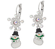 Kirks Folly Sparkling Snowmen Earrings - J352488