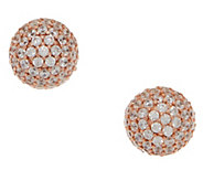 Diamonique Round 1.75 cttw Pave Studs, Sterling or 14K Clad - J353788