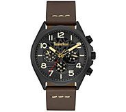 Timberland Mens Stainless Multi-Function BrownLeather Watch - J380788
