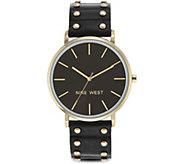 Nine West Ladies Hartsleigh Black Strap Watch - J380988