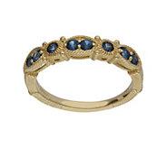 Judith Ripka 14K Gold Sapphire Band Ring - J382388
