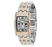 As Is Liz Claiborne New York Polished Link Bracelet Watch - J272689