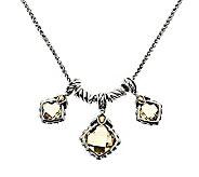 JAI Sterling & 14K Gold Accent 6.30cttw Lemon Citrine Adj. Necklace - J279889