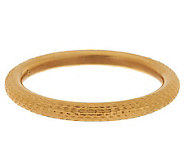 Oro Nuovo Avg. Textured Diamond Cut Round Bangle 14K - J286489