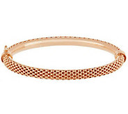 Veronese 18K Clad Large Coreana Oval Hinged Bangle - J288289